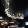 Grande e fascinante projeto de design personalizado lustre led para casamento