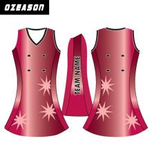 Latest Design Printed OEM Service Netball Dresses