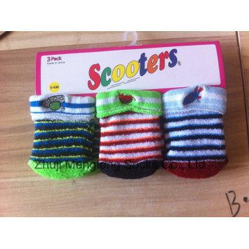 Мило новорожденного зимой хлопок Носки детские носки подушки с вышивкой