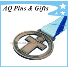 Zinc Medal with Printed H Shape Ribbon