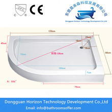 Low profile shower tray shower base
