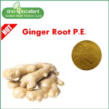 Натуральный ингредиент коричневато-желтого экстракта корня имбиря