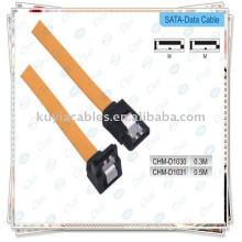 7pin sata macho a macho cable para disco duro disco clip