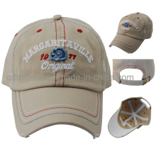 Grinding lavado puntos de contraste bordado Baseball Cap Sport (TMB0375)