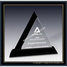 "Plaques Triangle Award en Cristal 9 ""H (NU-CW706)"