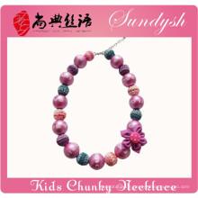 Belle perles de mode à la main bijoux bébé Chunky collier