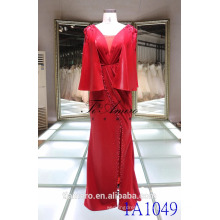 1A1049 Exquisite Red Junoesque Mantle Apparel Beading Column Prom Dress Evening Dress
