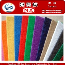 Low Price 100% Polyester Needle Pointed Nonwoven Plain Exhibition Carpet