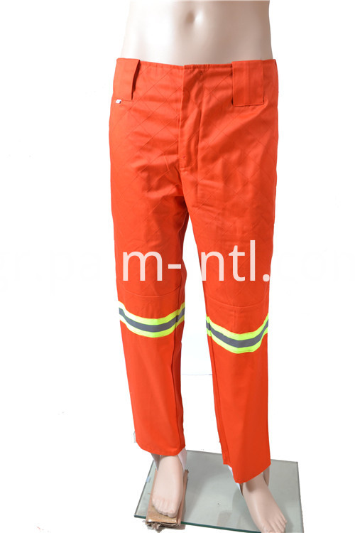Orange Polyester/Cotton Pants