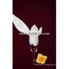 Délicat serviette polyester pour banquet/mariage table, serviettes de table décoratifs