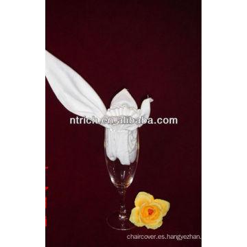 Delicada servilleta poliester para banquete boda mesa, servilletas decorativas