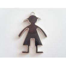 Nouveaux produits en argent mode homme en forme de pendentif étiquette métallique