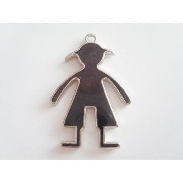 Novos produtos prata moda homens em forma de pingente de metal tag