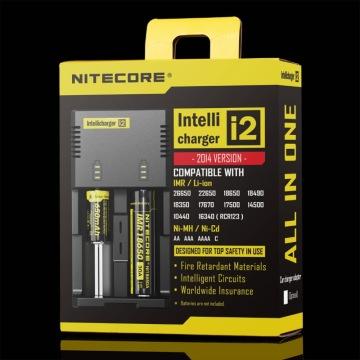 Chargeur de batterie universel authentique Nitecore I2 pour 18650