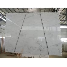 Azulejo blanco de mármol blanco de Calacatta de la