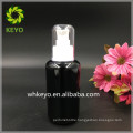 30ml 50ml 100ml black lotion glass bottle with pump sprayer