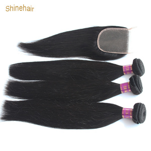 Straight Hair Weave Bundles With Closure