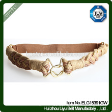 Fashion Elastic Belt Lady Female Strap Cintos Women waistband Designer for Dress Golden Braided Ceinture