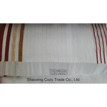 Новый популярный проект полоса Organza Voile Sheer Curtain Fabric 0082124