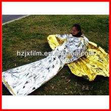 Cobertor de resgate de primeiros socorros de ouro / prata