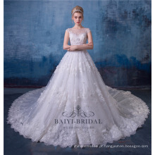 Branco vestidos de noiva vestido de noiva de luxo 2017