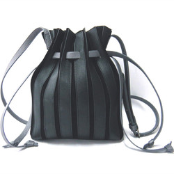 Pleated decorative drawstring harness frosted bucket bag