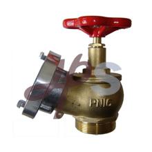 Válvula de aterrizaje de boca de incendios de latón con tapa