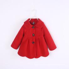 Nova chegada crianças casaco de inverno preço de atacado quente longo design onda crianças casaco de inverno