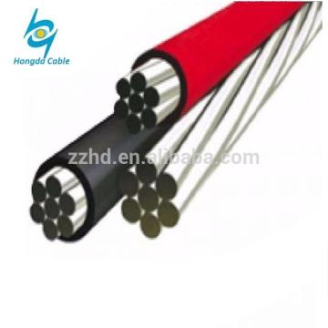 0.6 / 1KV Niederspannungs-Aluminiumleiter 2/3/4 Kerne oben Luft-Bündel xlpe ABC-Kabel