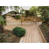 Sanded Wood Composite Floor PE WPC Decking Swimming Pool Outdoor