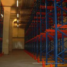 Palettisation de palette de capacité lourde enduite de poudre / conduire dans des rayonnages pour l'entrepôt
