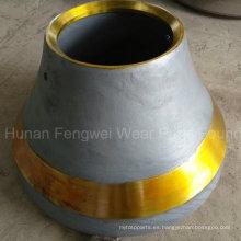 Desgaste y piezas de repuesto de la trituradora del cono del OEM del alto manganeso