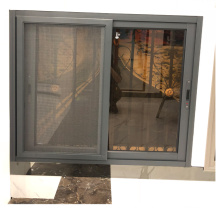 Aluminum frame double glazed glass design sliding window security bars