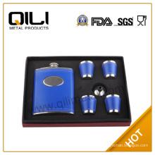 FDA 8oz small hip flask(4 cups & funnel) set