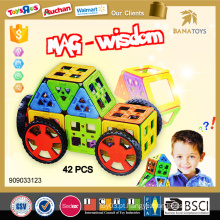 2015 novo e quente venda de Natal magnético blocos de construção mag sabedoria brinquedos magnéticos