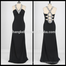 Real Pictures Crystal Prom Dresses Beaded Evening Dress Long Party Dress