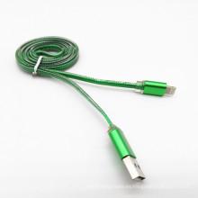 Cable de datos USB plano PVC transparente de alta calidad para iPad
