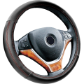 universal 38cm pu leather steering wheel cover