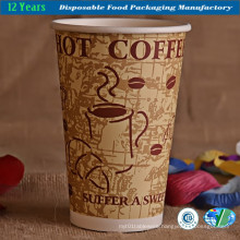 16oz Hot Coffee Paper Cup with Double Wall