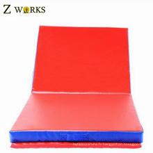 Gymnastique joyeux tapis pliants colorés pour l'exercice des enfants