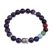 7 Chakra Gemstone Buddhism & Buddha Alloy Amethyst Bracelet