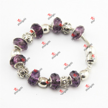 Luz roxo talão de vidro serpente encantos pulseiras (SKD60226)