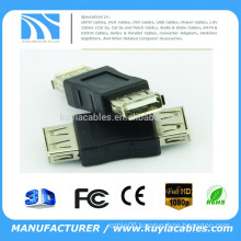 KuYia USB Type A Female to Female Adapter (USB_F-USB_F) USB EXTENDER USB FEMALE CONVERTER ADAPTER With Retail Package