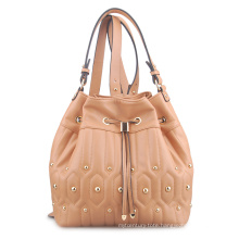 Luxury Quilted Embroidery Stud School Shopping Backpack (LY05032)