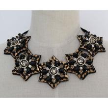 Mode Kristall Chunky Bib Kostüm Choker Halskette Kragen (JE0015)