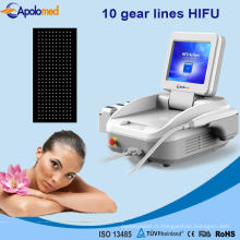 Nouvelle machine portative de beauté de retrait de ride de visage d'ultrason d'utilisation de clinique de conception de Hifu