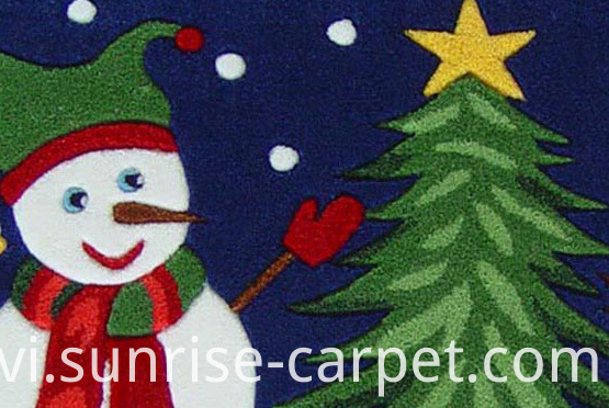 Acrylic Hand Tufted Carpet Chrismas Design