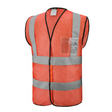 Mesh Fabric Safety Reflective Vest with Pocket