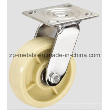 Heavy-Duty White Nylon Swivel Caster Wheel
