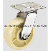 Roda de rodízio de giro Nylon branco resistente
